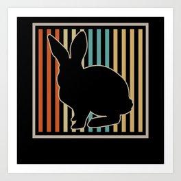 Bunny Retro Art Print