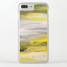 Emerald greens, speck in the wind Clear iPhone Case