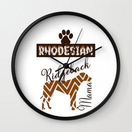 Rhodesian Ridgeback Mama/ Shirt / Tank Top / Hoodie / Mug / Art Print / Poster / Rhodesian Dog Lover Wall Clock