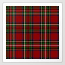 Royal Stewart Tartan Clan Art Print