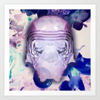 K. Ren (Diamond Floral Edition) Art Print