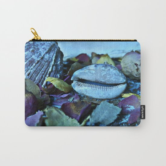 BLUE Maritime Symphony of Seashell Carry-All Pouch