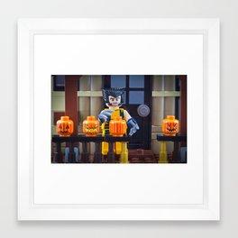 Pumpkin Carving Framed Art Print