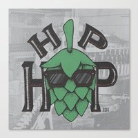 hip hop Canvas Prints featuring Hip Hop by Deidre Hayden