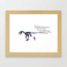 When Dinosaurs Ruled The Earth - Deinonichus Framed Art Print