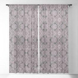 Wool Lace Bohemian Pattern Fiber Texture Taupe Mauve Sheer Curtain