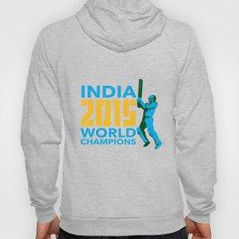 India Cricket 2015 World Champions Isolated Hoody