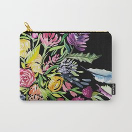 Electric Blooms Carry-All Pouch