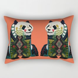 panda orange Rectangular Pillow