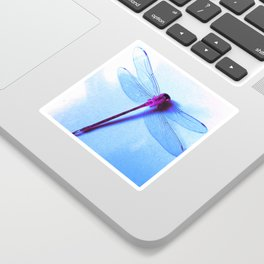 Iridescent Dragon Fly - Digital Photography Art Sticker