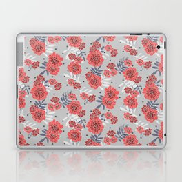 Crimson and Silver Floral Laptop & iPad Skin
