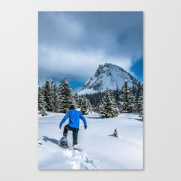 Snowshoeing at Chester Lake Canvas Print