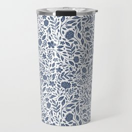 Delft Blue Botanical Florals Travel Mug