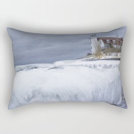Point Betsie Lighthouse in Winter Rectangular Pillow