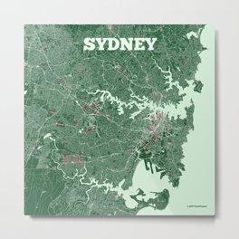 Sydney, Australia street map Metal Print