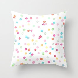 Happy colorful confetti print Throw Pillow