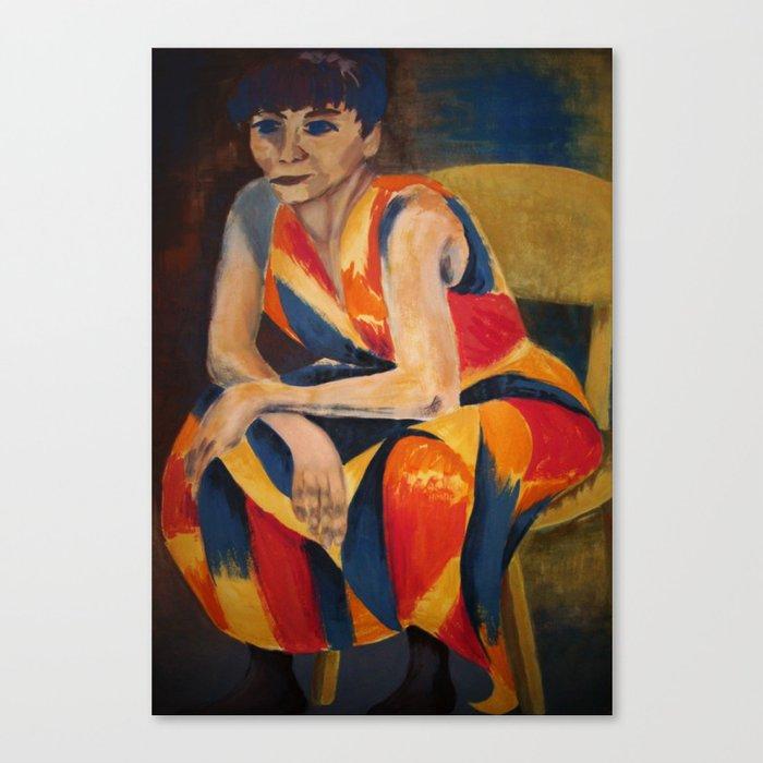Quietness with temperament / Vaikus temperamendiga Canvas Print