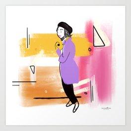 Beret Girl Art Print