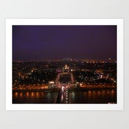 Paris At Night 3 Art Print