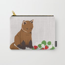 Strawberries for Fox Carry-All Pouch