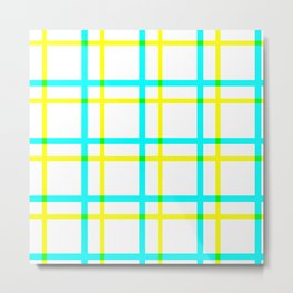 Summer Plaid Metal Print