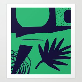 Jungle Grunge Art Print
