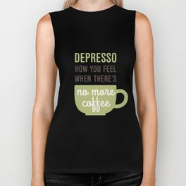 Coffee: Depresso Biker Tank