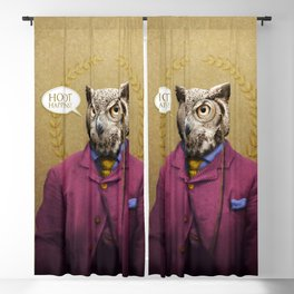 "Mr. Owl says: ""HOOT Happens!"" Blackout Curtain"