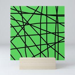 Doodle (Black & Green) Mini Art Print