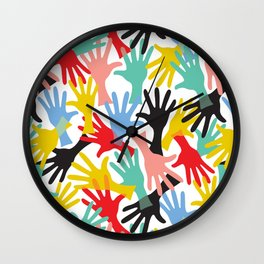 CELEBRATE! Graphic Hands Wall Clock
