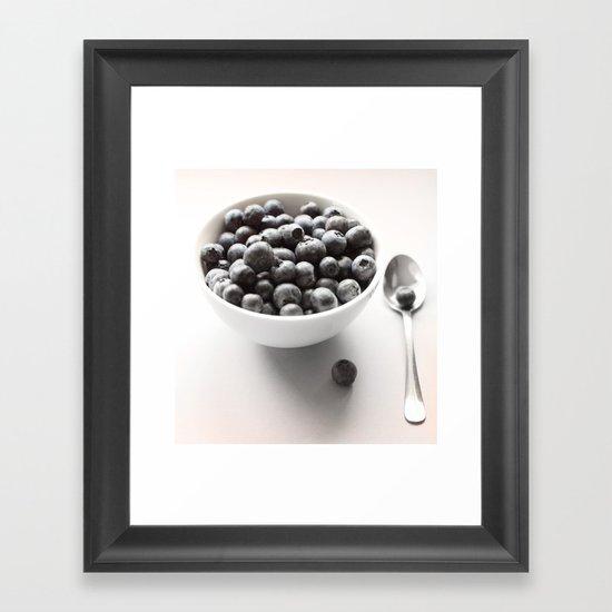 Blueberry Light Kitchen Photographic Art  Framed Art Print