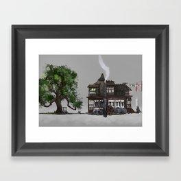 The Oak and the Crow Inn Framed Art Print