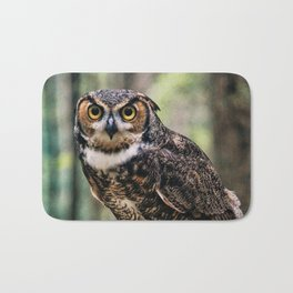 Majestic Owl Stare Bath Mat