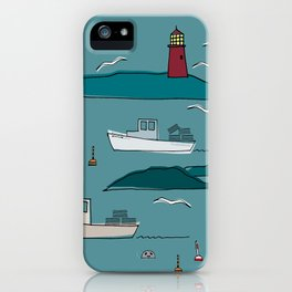 Lobstering in the Harbor iPhone Case