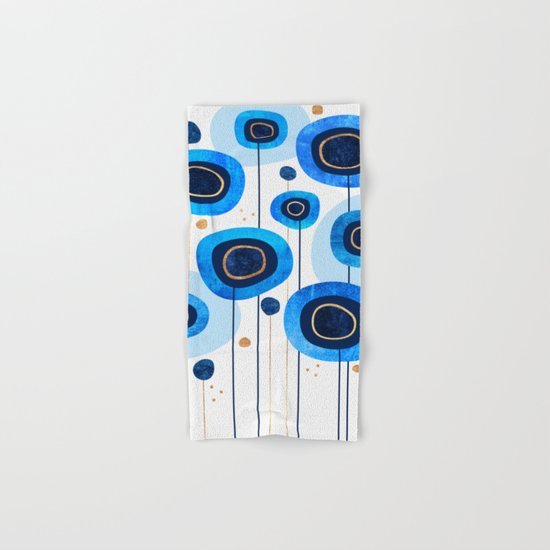 Floral Blues Hand & Bath Towel