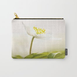 Wood Anemone Blooming in Forest #decor #society6 #buyart Carry-All Pouch
