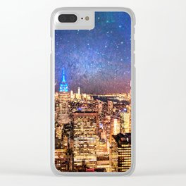 Night Shine - New York Clear iPhone Case