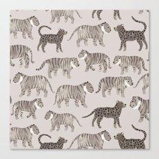 Gray Tigers Canvas Print