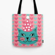 Cat Party hat Tote Bag