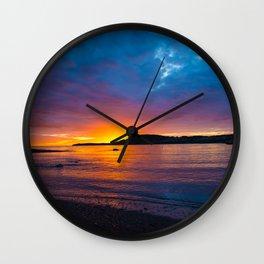 East Coast Sunset Wall Clock