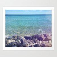 Lake Huron from the Shore Art Print