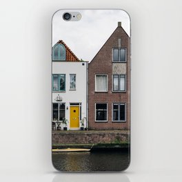 Row houses and Canal in The Netherlands iPhone Skin
