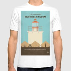No760 My Moonrise Kingdom minimal movie poster Mens Fitted Tee White MEDIUM