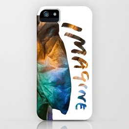 Colored drapery with text iPhone Case
