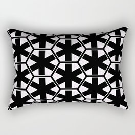 Multi Pattern Black and White Design Rectangular Pillow