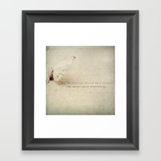 change (two) Framed Art Print
