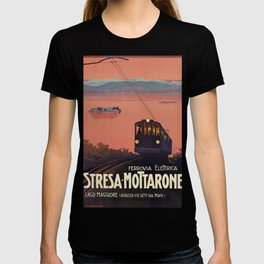Stresa-Mottarone Vintage Travel Poster T-shirt