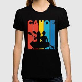 Retro Style Canoe Canoeing T-shirt