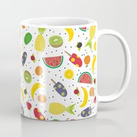 fruits Mugs featuring Fruits by Ananá