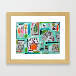 Kickin Seven And Pushin Peas Framed Art Print